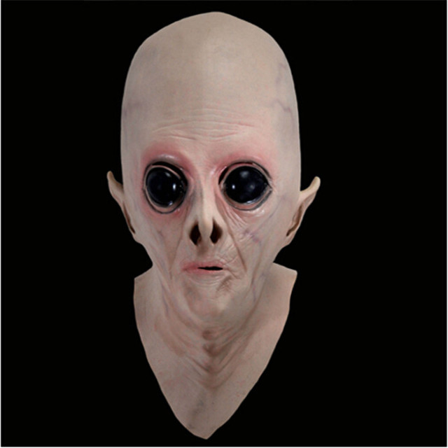 High Quality Helloween Party Cosplay Scary Alien Mask Latex Ufo Head Masquerade Masks Party Props Festival