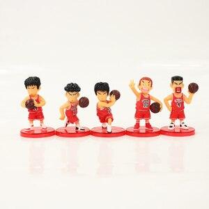 Image 4 - 5 개/몫 SLAM DUNK Shohoku 농구 선수 Anime Figure Doll 사쿠라기 하나미치 Rukawa Kaede 모델 장난감