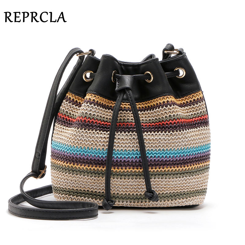 REPRCLA Nieuwe Color Bucket Bag Fashion Dames Schoudertassen Hoge kwaliteit Crossbody Messenger Bags PU lederen Designer Women Bags