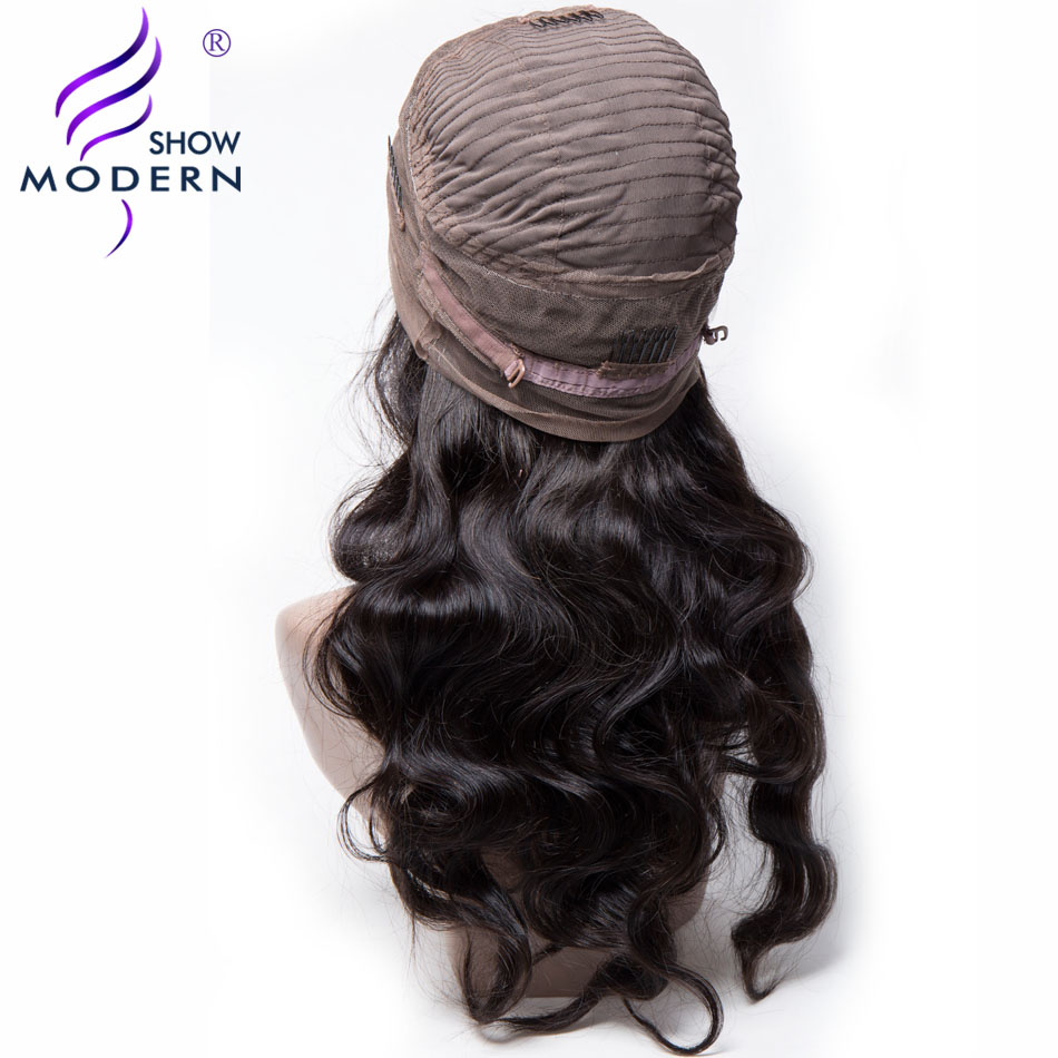 Modern Show 360 Lace Wig Brazilian Body Wave Remy Hair Lace Front Human Hair Wig 360 Lace Frontal Wig Pre Plucked With Baby Hair