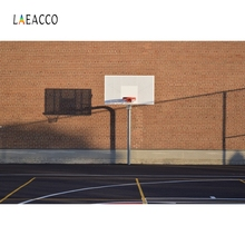 Laeacco Playground Basketball Stand Backdrop Boy Portrait Photography Background Custom Photographic Backdrops For Photo Studio