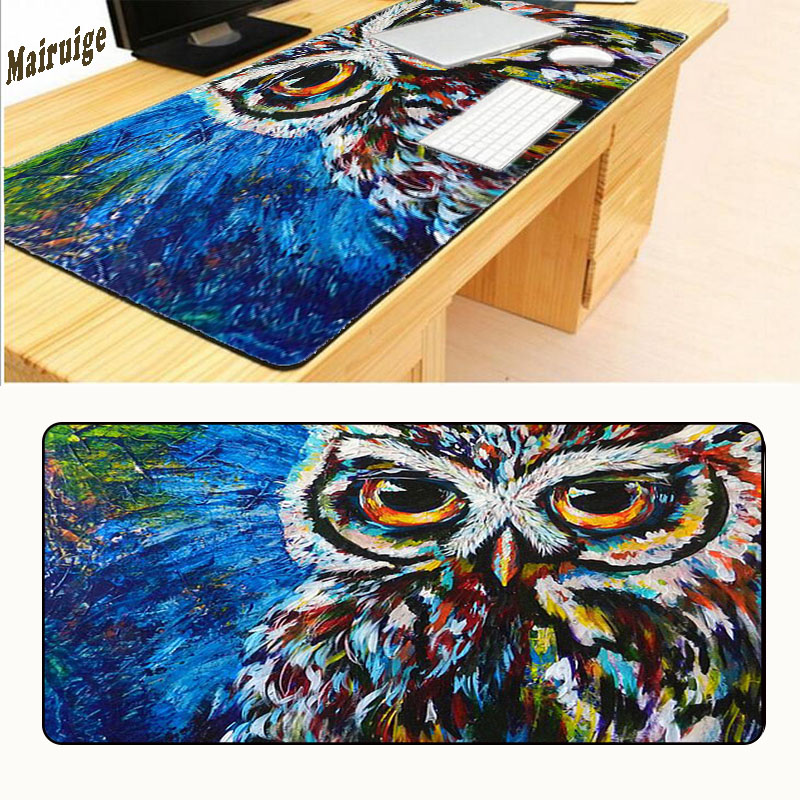 Mairuige Free Shipping Non-slip Table Laptop Owl Mousepad Large Locking Edge League of Legends Gaming Mouse Pad 30X80 CM