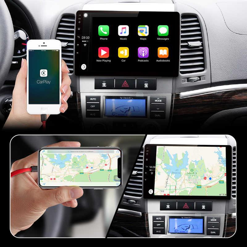 Junsun V1 pro 4G + 64G CarPlay DSP Android 8.1 Radio samochodowe multimedialne stereo odtwarzacz audio GPS 2 Din dla Hyundai Santa Fe 2 2006-2012