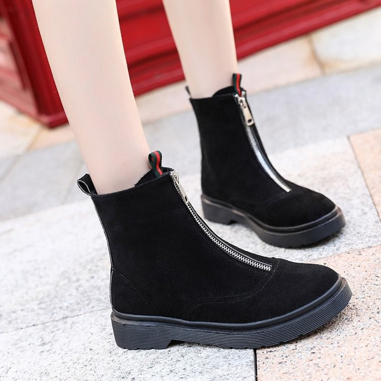 2018 new Martin boots female British wind tube Korean version of the wild ankle boots winter boots. 5