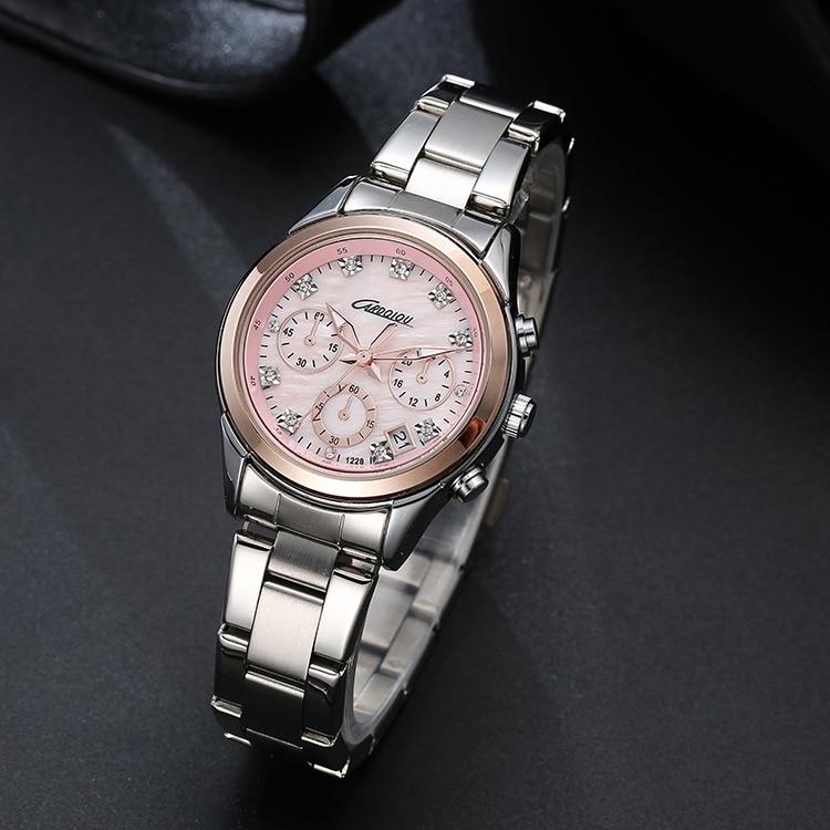 Diseñador Mujeres de Negocios Cristales Relojes Cuarzo Calendario - Relojes para mujeres