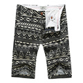 2016 new arrival summer men's printed casual cotton shorts, men's beach shorts, short men plus-size 28-38
