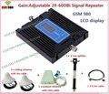 Mais novo Controle de Ganho Repetidor GSM Rede GSM 900 Mhz Móvel Signal Booster GSM Repetidor de Sinal Amplificador Telefone Celular Tampa 2 quartos