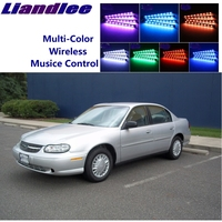 LiandLee Car Interior Floor Decorative Atmosphere Seats Accent Ambient Neon light For Chevrolet Classic 2004 2005