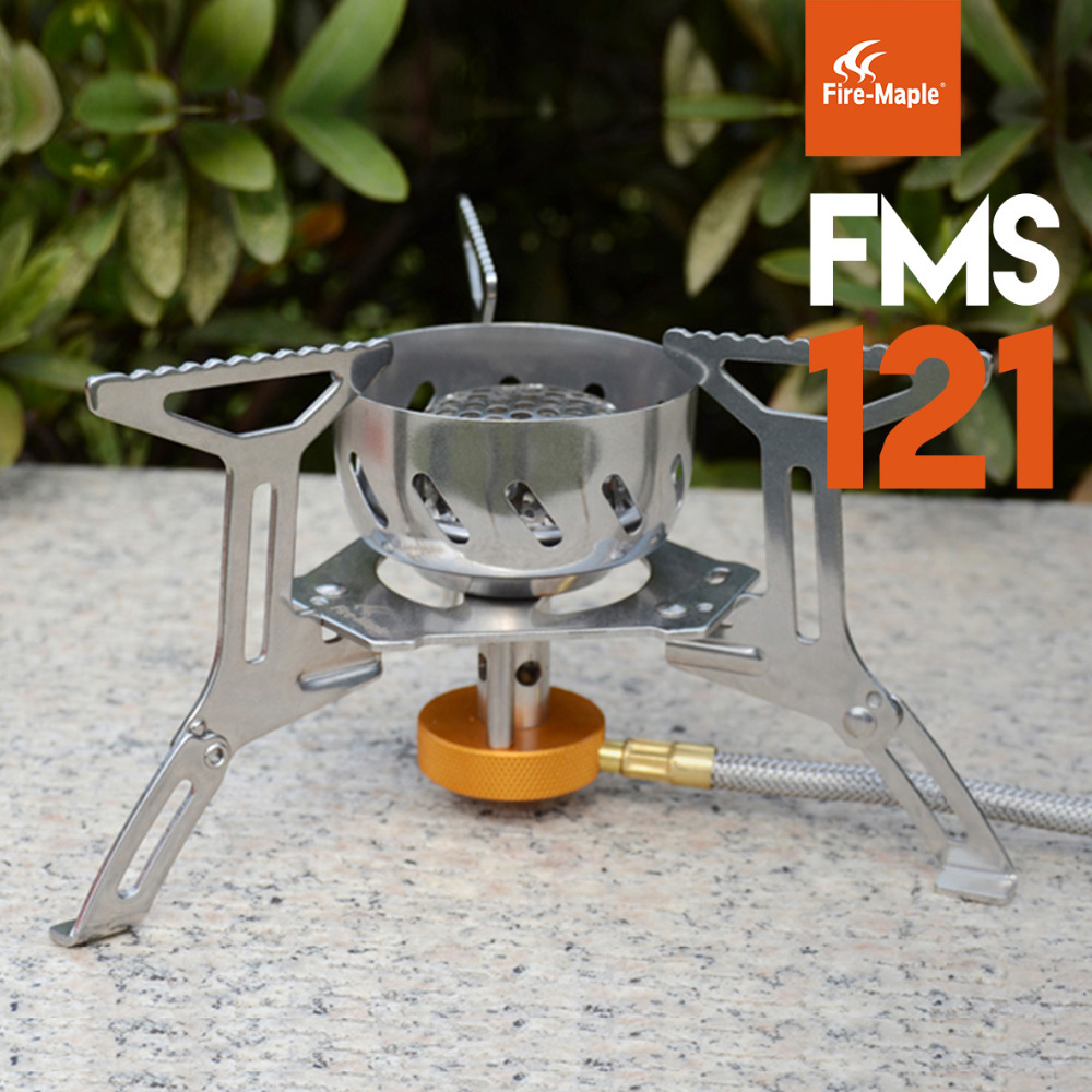 Fire Maple Outdoor Windproof Stove Camping Cooking Stainless Steel Gas Stove Split Hiking Equipment Picnic BBQ Camp Set FMS-121