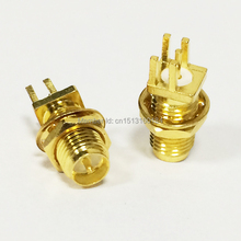 1pc RP SMA Female Jack nut RF Coax Modem Convertor Connector end launch PCB Cable Straight