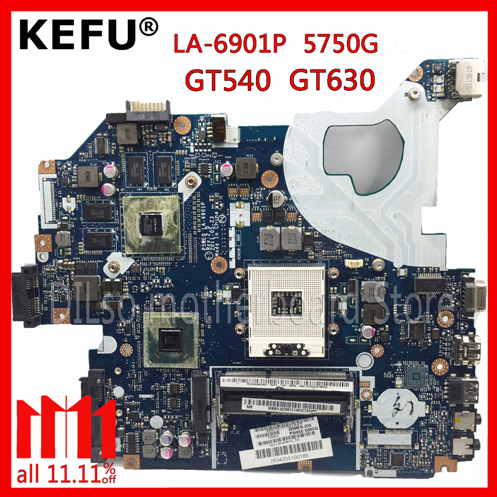 KEFU P5WE0 LA-6901P motherboard for acer 5750 5750G 5755 5755G laptop motherboard HM65 GT630M original Test motherboard 2gb p5we0 la 6901p mbrcg02006 for acer aspire 5750 5750g 5755g laptop motherboard non integrated working pretty well