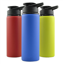 bpa free 2018 hot sale 750ml 3 colors  Bicycle sport outdoor bottle single wall Stainless steel my water portable kettle