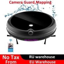 2018 охранная Камера Видеозвонок влажный сухой Электрический пылесос робот с картой навигации, Wi-Fi управление приложением, смарт-память, резервуар для воды