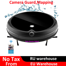 2019 Camera Guard Video Call Wet Dry Electric Vacuum Cleaner Robot With Map Navigation,WiFi App Control,Smart Memory,Water Tank