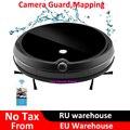 2019 Guarda Câmera de Vídeo Chamada Elétrico Seco Molhado Aspirador de pó Robô Com o Mapa de Navegação, WiFi Controle de App, memória inteligente, Tanque de Água