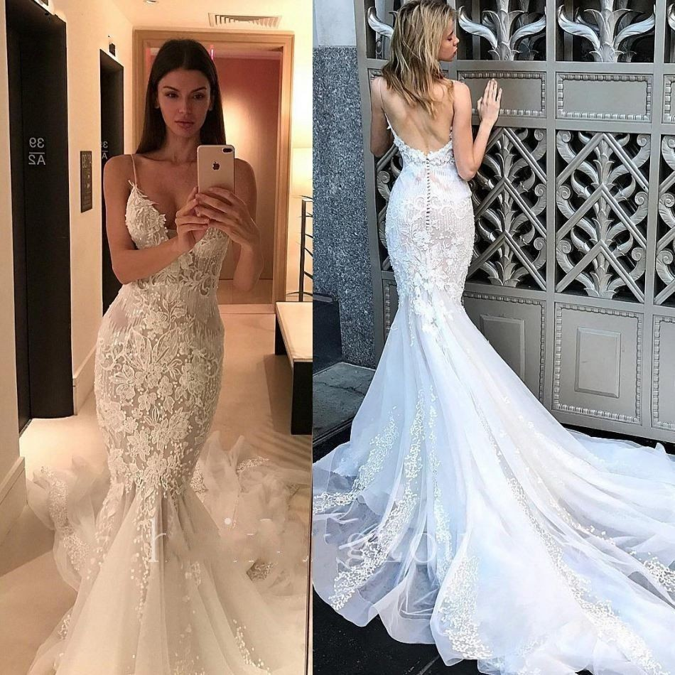 Stunning Sexy Backless Wedding Dresses Mermaid Style