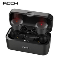 ROCK True Wireless Earbuds Hifi Bluetooth Earphone EB10 TWS Stereo With Mic for iPhone X 8 Samsung Xiaomi Charger Box Earphones