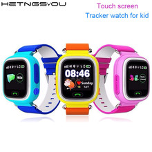 HETNGSYOU Child Q90 Touch Screen WIFI Smart baby Watch Location Finder Device GPS Tracker watch for Kid Anti Lost Monitor PK Q50