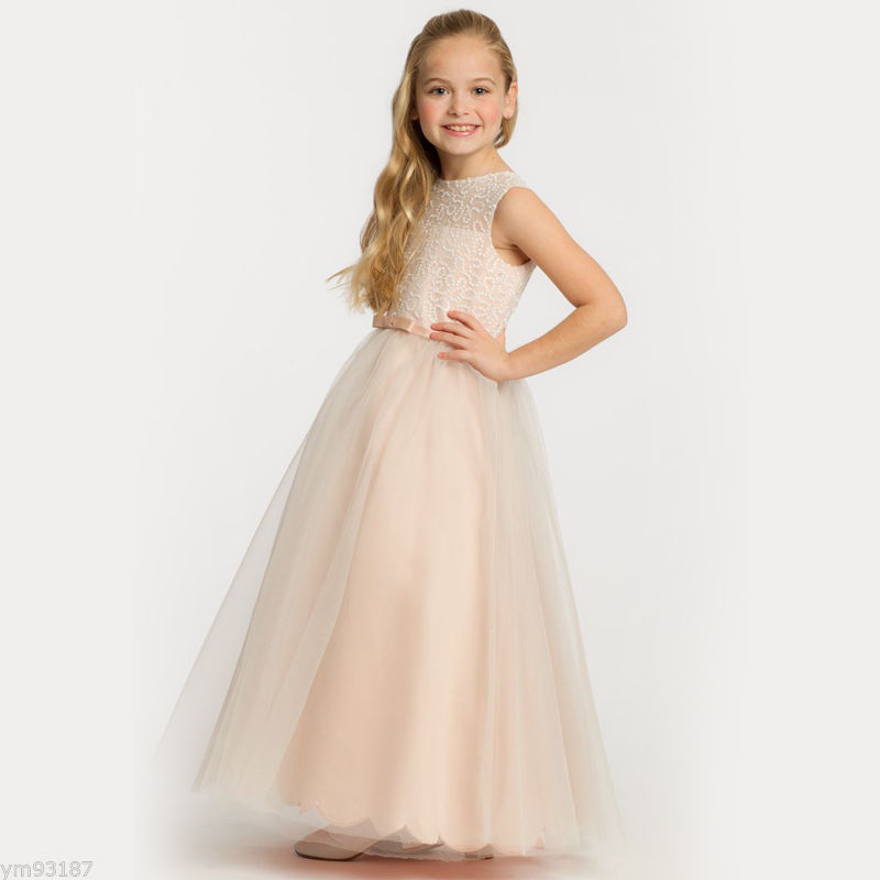 Sleeveless Flower Girls Dresses For Wedding Tulle First Communion Dresses for Girls A-Line Mother Daughter Dresses For Girls a line flower girls dresses for wedding gown white mother daughter dresses tulle first communion dresses for girls
