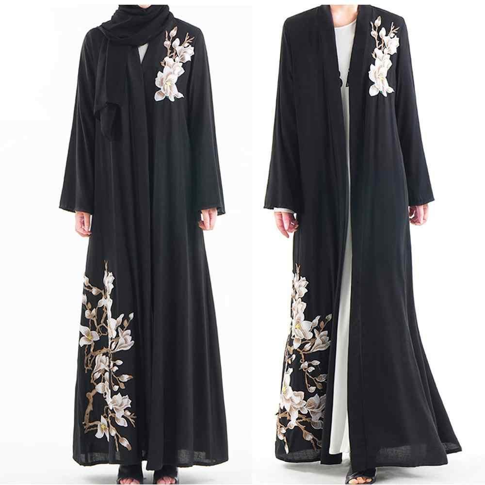2019 העבאיה טורקית דובאי יוקרה גבוהה מוסלמיות הרמדאן התיכון הערבי מזרח נשים של קימונו שרשרת ארוך שרוול חלוק שמלה