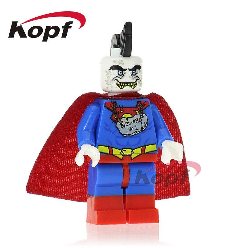 Один продажи bizarro Супермен Wonder Woman киборг чудо человек Бэтмен Строительный Конструкторы супер героев кирпич Игрушечные лошадки для детей XH ...