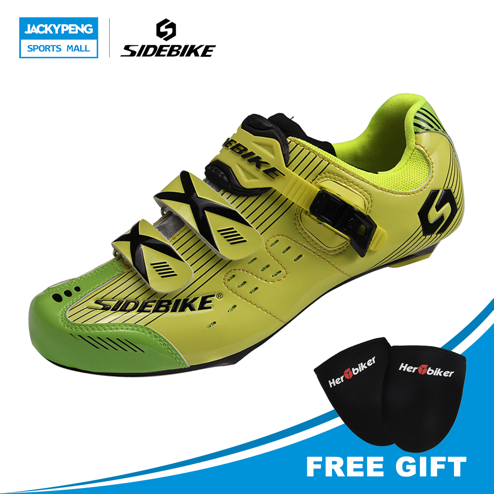 где купить  SIDEBIKE Road Cycling Shoes PU Breathable Road Bike Shoes Athletic Racing Bicycle Shoes Sneakers Sapatilha Ciclismo Mtb  по лучшей цене