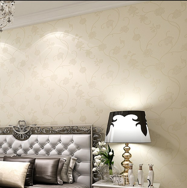 ФОТО  new 2016 European non-woven sprinkled gold wallpaper Sweet and rural small bedroom living room full shop background wall paper