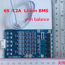 6S 12A 25,2 V lipo литий-полимерная BMS/PCM/PCB плата защиты батареи для 6 пакетов 18650 литий-ионный аккумулятор с балансом