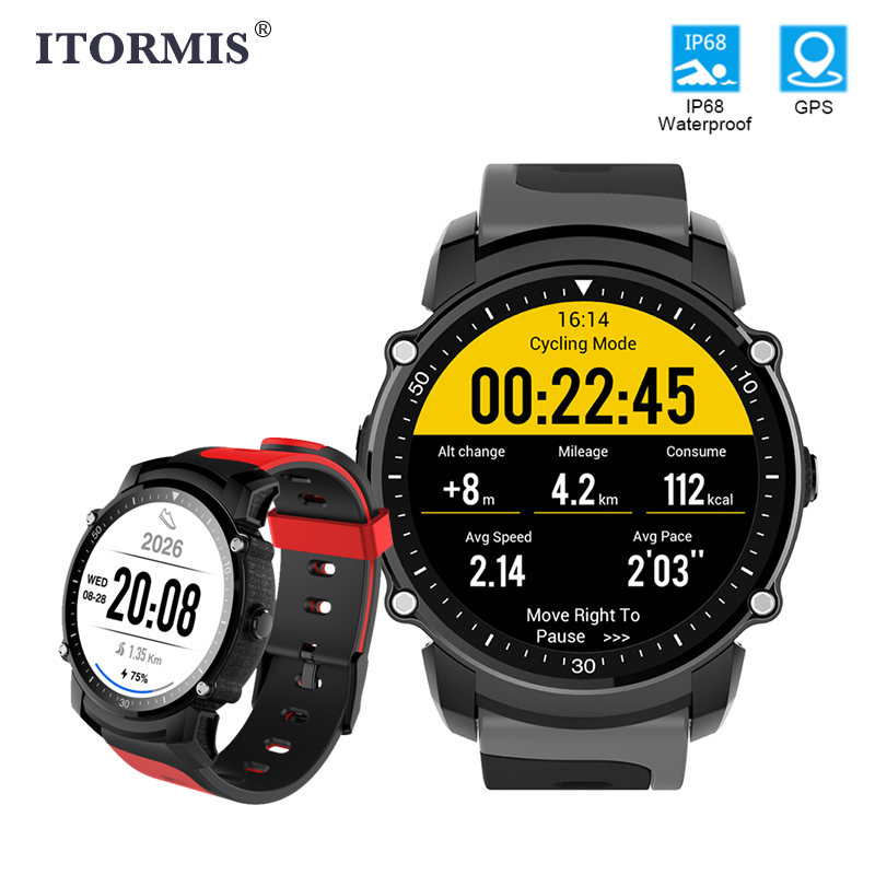 ITORMIS Bluetooth GPS Smart Watch SmartWatch Sport Band Fitness Bracelet Heart Rate Tracker Swimming Compass Men Women Android free shipping b173rw01 v 3 v3 v 2 v 0 v 4 v 5 lp173wd1 n173o6 l02 ltn173kt01 claa173ua01a 40 pin 1600x900 17 3led screen