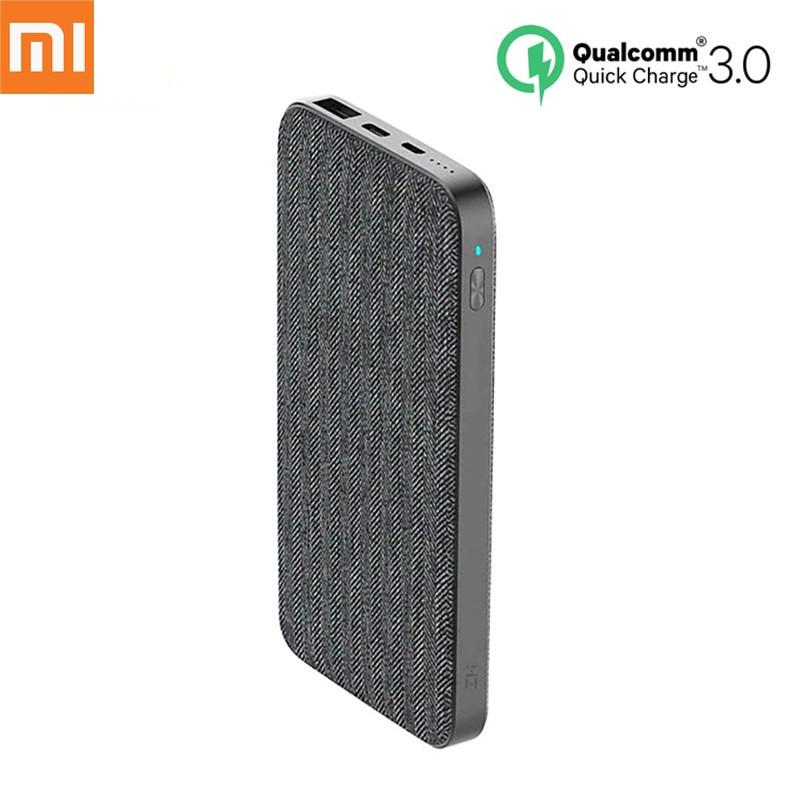 Batterie externe d'origine Xiaomi ZMI 10000 mAh QC3.0 type-c PD deux voies charge rapide 18 W batterie externe pour téléphone portable Xiaomi iPhone