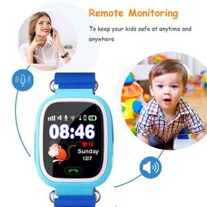Image 3 - Q90 ساعة أطفال مزودة بنظام GPS ساعة ذكية للأطفال للأطفال ساعة Wmart الطفل على مدار الساعة مع موقع SOS دعوة أداة تتبع PK Q528 Q100