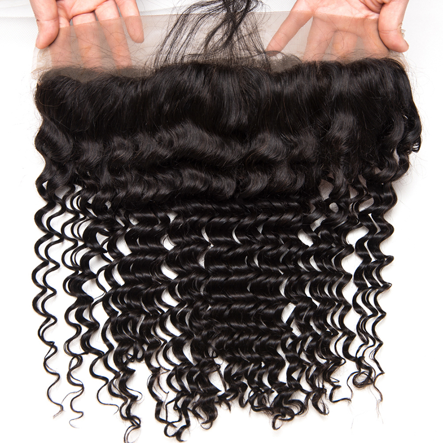 Deep Wave Human hair 3 Bundles With Closure Brazilian Hair Weave Bundles ALIPOP Lace frontal Closure With Baby Hair Non Remy (1)
