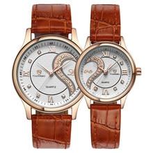 Новинка 1 пара/2 шт. Tiannbu ультратонкие кожаные романтические модные наручные часы дропшиппинг L530