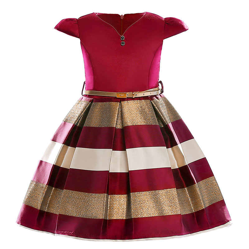 Dresses for Kids Girls European American Baby Girl Princess 2018 new goods Summer Fashion Children Clothing 3 4 6 8 10 Years old summer girl dresses trade clothing in european and american style age for 3 12 years baby girl clothes with rose jacquard kids