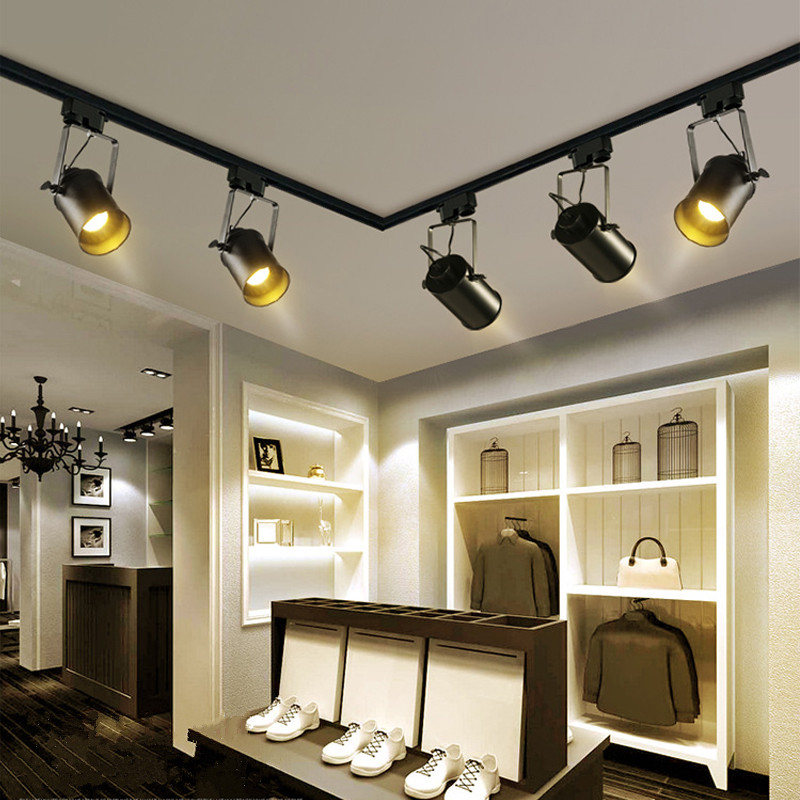 Retro Style LED Ceiling Lights Adjustable Angle Clothing
