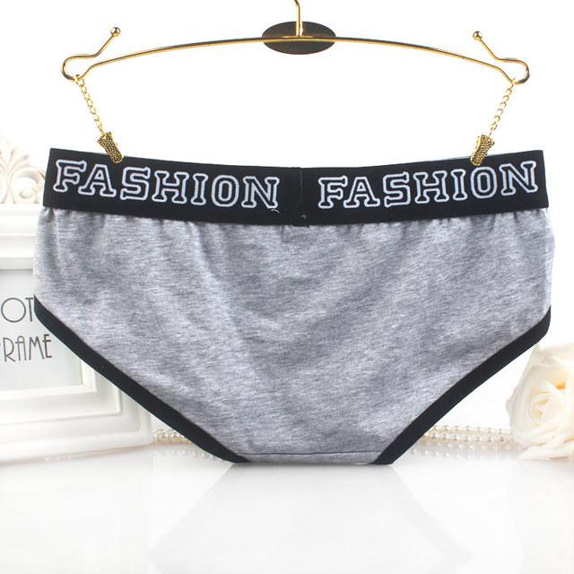 Cotton Panties Brief Women Elastic Heathy