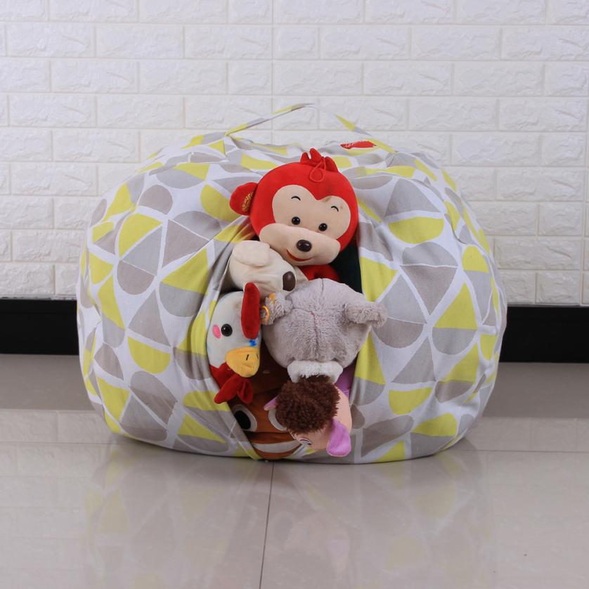 kids toys storage bag organizer cotton stuffed animal plush toy storage bean bag soft pouch. Black Bedroom Furniture Sets. Home Design Ideas