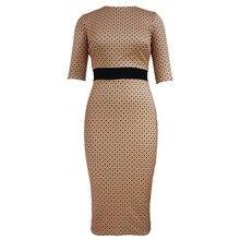 Hochwertige mode frauen dress nette dot druck rundhals lange kleider elegante damen abendgesellschaft bodycon dress robe femme