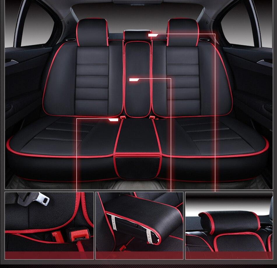 (Avant et arrière) housses de siège de voiture en cuir de luxe pour BMW e30 e34 e36 e39 e46 e60 e90 f10 f30 x3 x5 x6 coussin de siège de voiture - 6