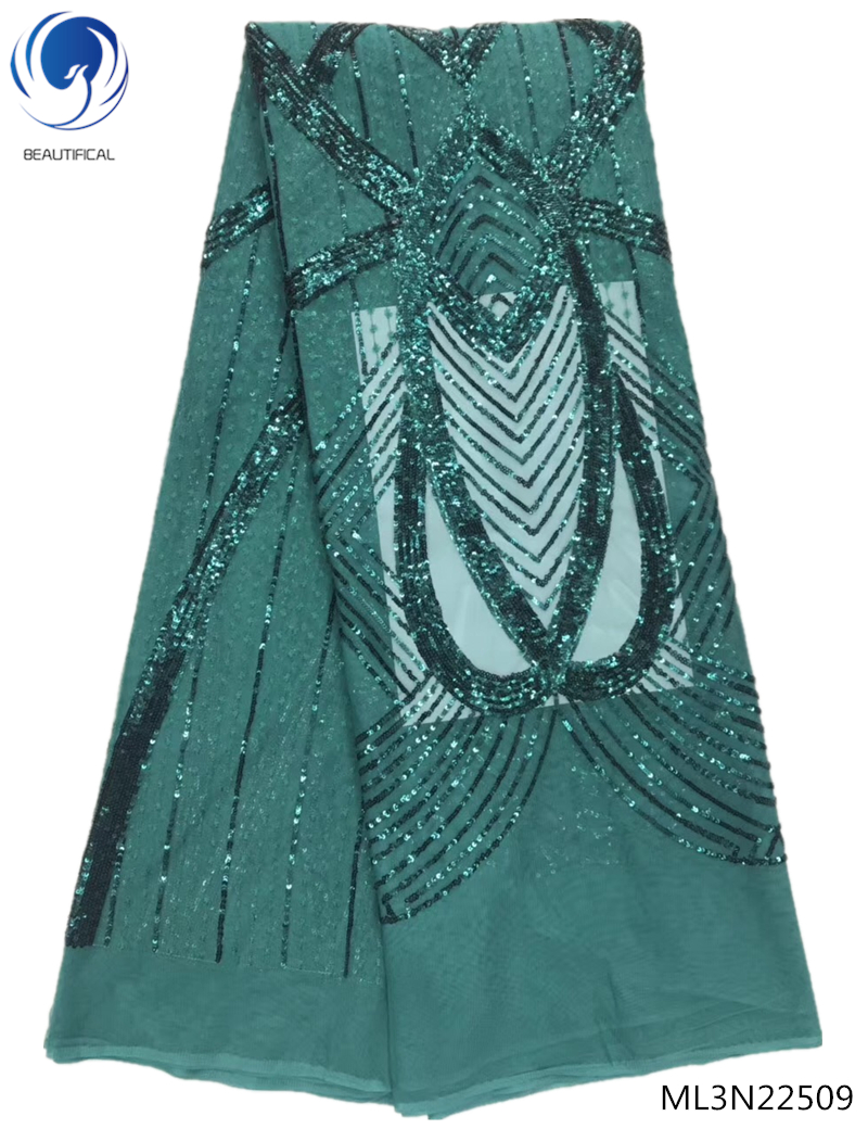 BEAUTIFICAL green sequin lace nigerian lace fabrics for wedding 2019 latest sequins lace fabric for woman hot shopping ML3N225BEAUTIFICAL green sequin lace nigerian lace fabrics for wedding 2019 latest sequins lace fabric for woman hot shopping ML3N225