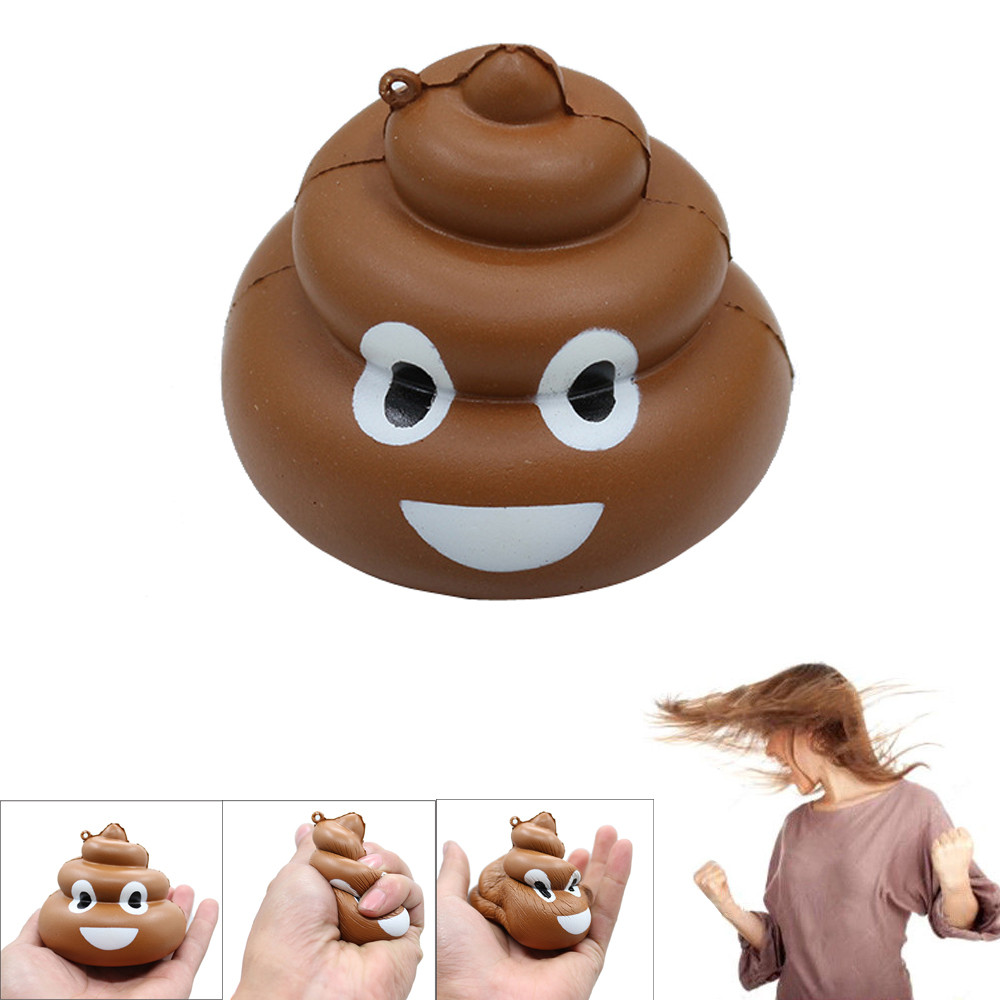 2018 Hot Squishy Crazy Stool Squeeze Poo Slow Rising Fun Toy Relieve Stress Cure Decor Soft PU Model Toys For Children Infant