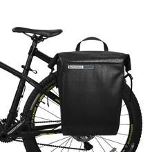 20L Waterproof Bicycle Bag MTB Mountain Road Bicycle Pannier Bike Rear Rack Tail Seat Pack One Side Cycling Luggage Carrier Bags недорого