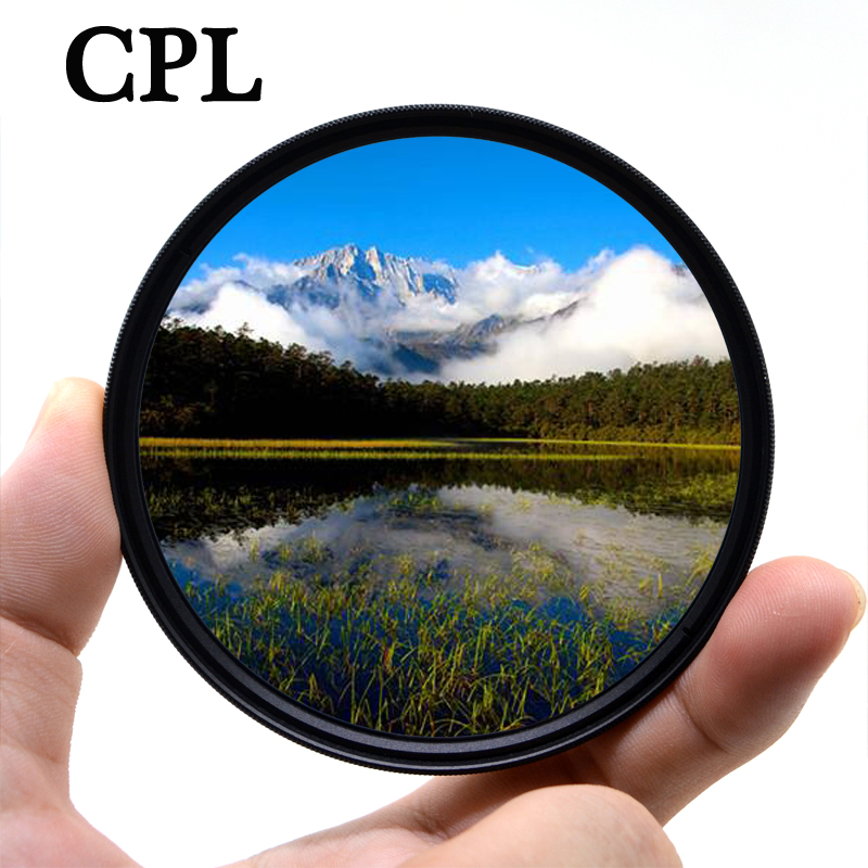 Поляризационный фильтр KnightX CPL для объектива камеры Canon Nikon 1200d 500d 700d цветной d70 49 мм 52 мм 55 мм 58 мм 62 мм 67 мм 72 мм 77 мм