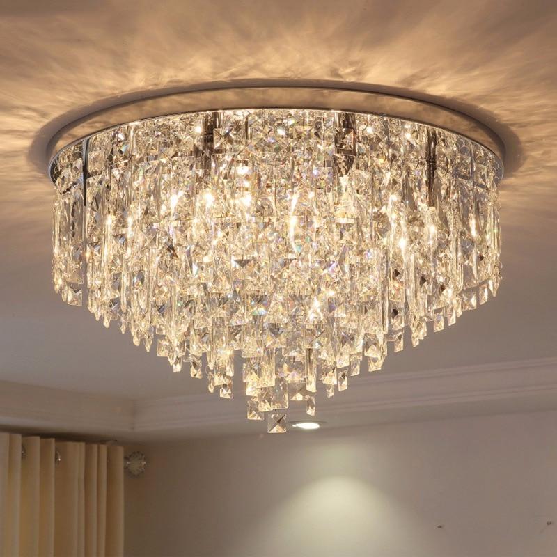 Living Room Lamp Crystal Lamp Round Ceiling Lamp Led Modern Minimalist Atmosphere European Bed Restaurant Lamp Complete Range Of Articles Ceiling Lights