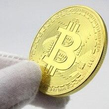 1 шт. золотые монеты Биткоин Коллекционная BTC сувенирная медаль Okcoin