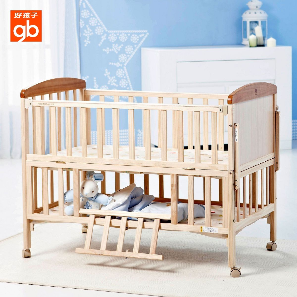 Goodbaby Good Boy Baby Bed Wood Crib Multifunctional Imported Pine Children Bed Mc283 Baby Cribs Aliexpress