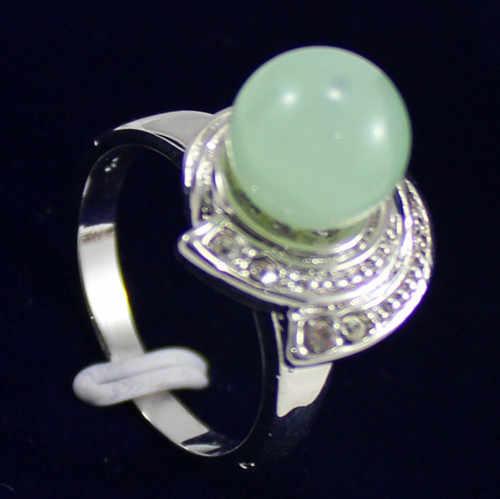 ร้อนขายโนเบิล-จัดส่งฟรี>>>@@ 2สีขายส่งแฟชั่น10มิลลิเมตรเลดี้สีม่วง/สีเขียวหยกลูกปัดsiler blatedแหวน(#7.8.9)