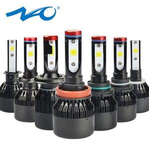 Image 1 - NAO H7 led Headlights H4 LED Bulb Car H11 H9 H1 H3 HB4 HB3 9005 9006 H8 H27 9004 H13 881 880 72W 8000LM 12V light White 6000K