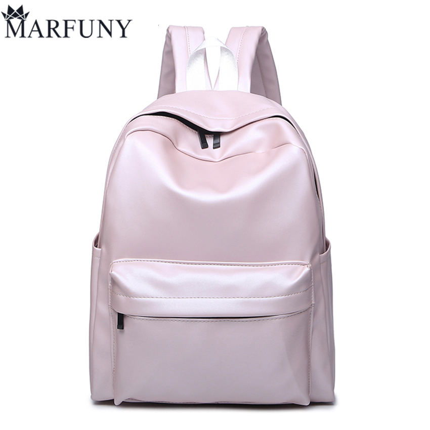 High Quality Pu Leather Backpack Fashion Backpacks For Teenage Girls Schoolbag 2017 New Travel Back Pack Solid Women Bag Mochil 2016 brand new women backpack pu leather backpacks girls fashion schoolbag high quality women bag big bolsas mochilas femininas