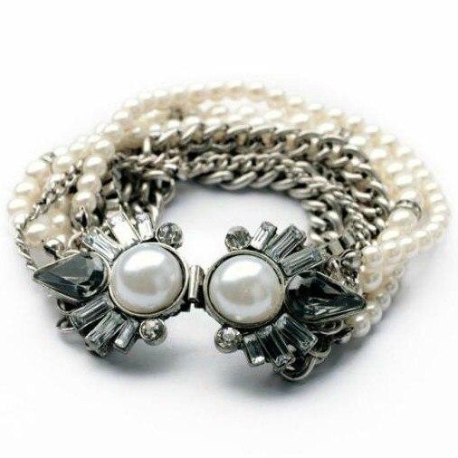 f567cb37d8d3 Ala Yuk Tak Limited clásico montaje tensión perla cadena de moda perlas  pulsera para las mujeres hermosa joyería de lujo